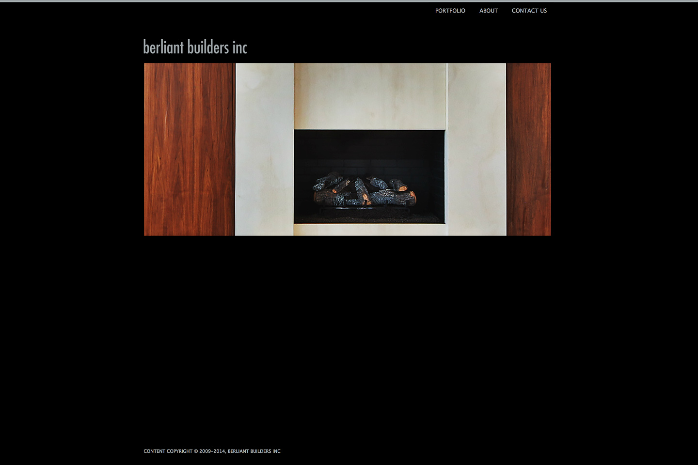 a screen capture of the berliant builders home page which features high resolution photos of great architectural details