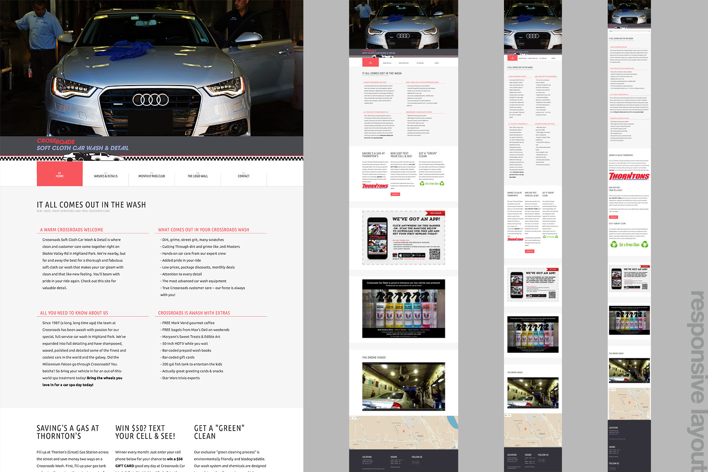 crossroads car wash responsive web design by 4d inc