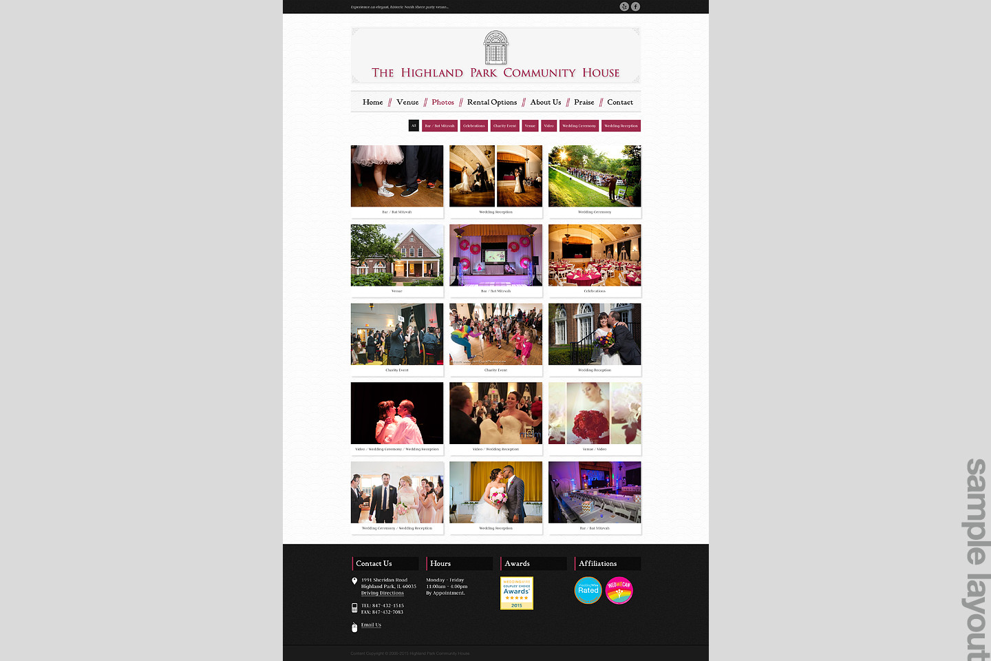 highland park community house sample web page layout by 4d inc
