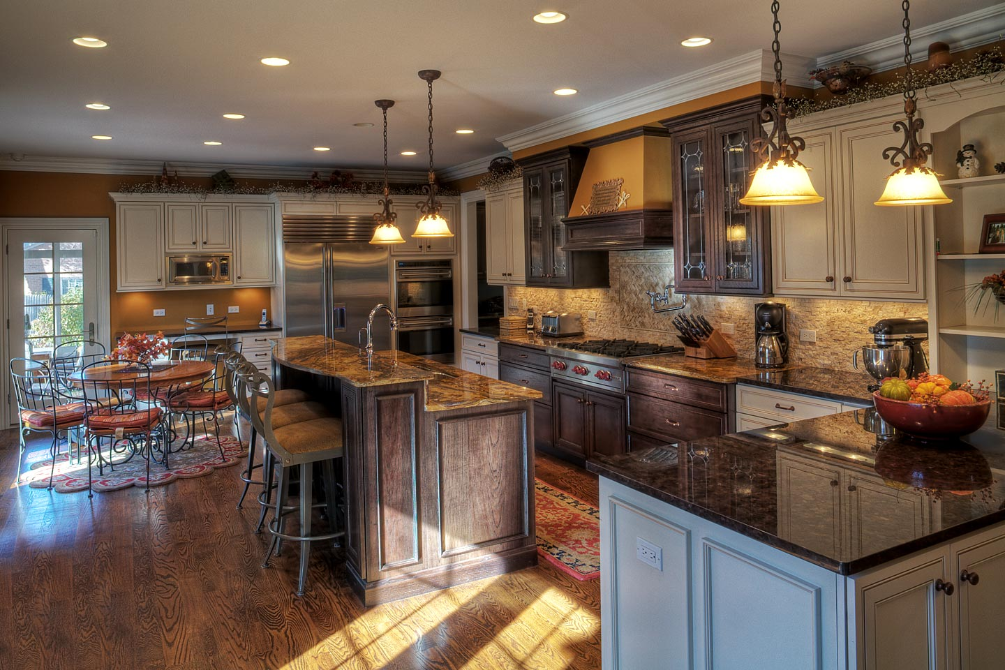 a large open custom kitchen beautifully decorated (angle 2), photographed by Jacob Rosenfeld